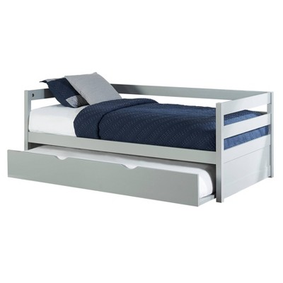 Kids' Twin Caspian Daybed With Trundle Gray - Hillsdale Furniture