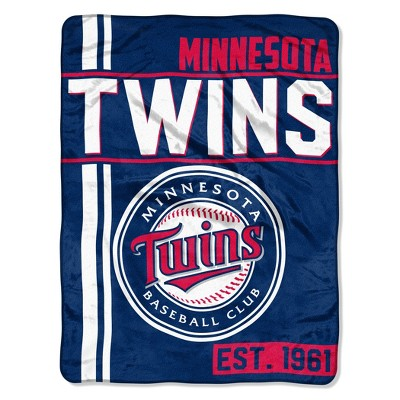 MLB Minnesota Twins Micro Fleece Throw Blanket