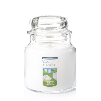 14.5oz Glass Jar Clean Cotton Candle - Yankee Candle