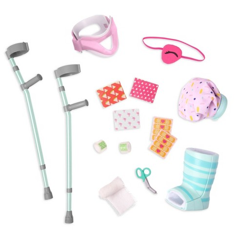 """Our Generation Crutches & Cast Care Set for 18"""" Dolls - Recovery Ready - image 1 of 4"""
