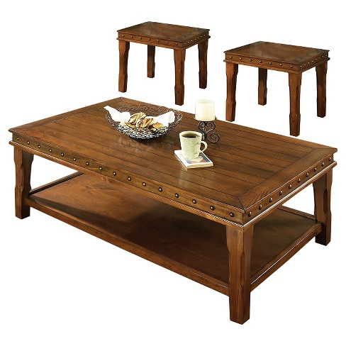 Odessa Occasional Table Set - Honey Pine - Steve Silver - image 1 of 2