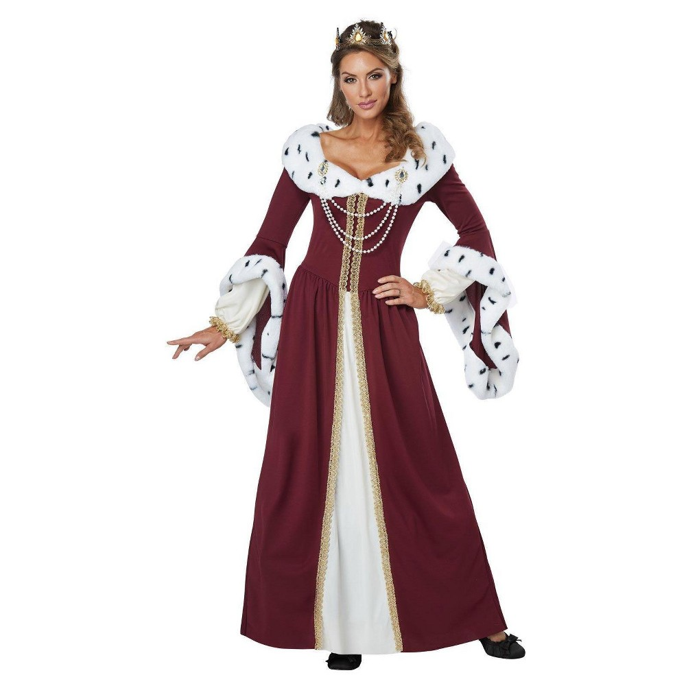 Women's Royal Storybook Queen Adult Costume Medium, Multicolored