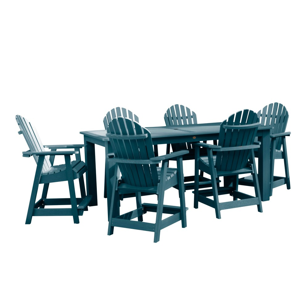 "Image of ""Hamilton 7pc Rectangular Counter Height Dining Set 84"""" X 42"""" Nantucket Blue - Highwood"""