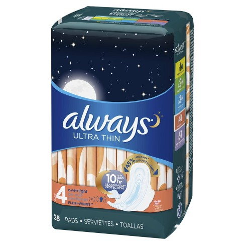 Always Ultra Thin Overnight Pads - image 1 of 5