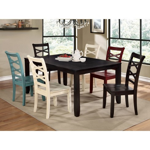Sun Pine Emery Transitional Dining Table Espresso