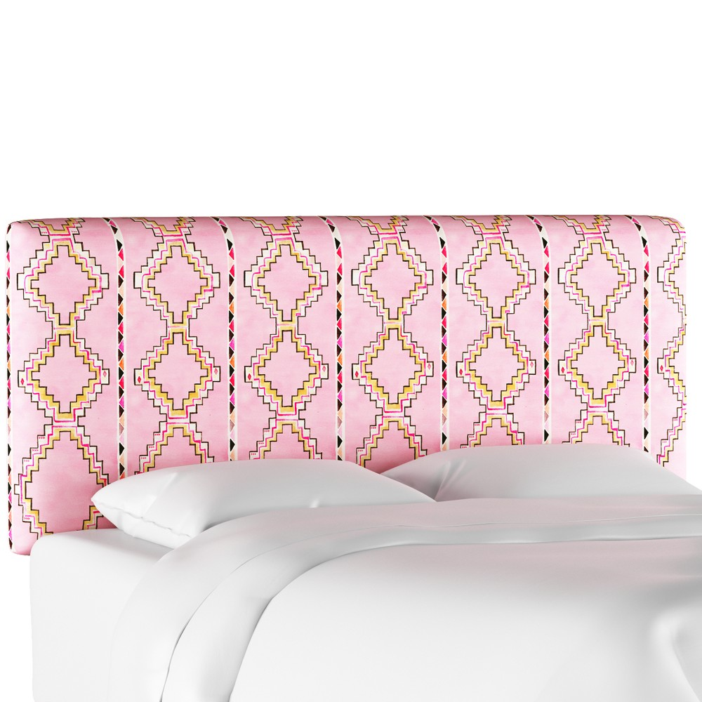Upholstered Headboard - Yuma Light Pink - California King - Designlovefest