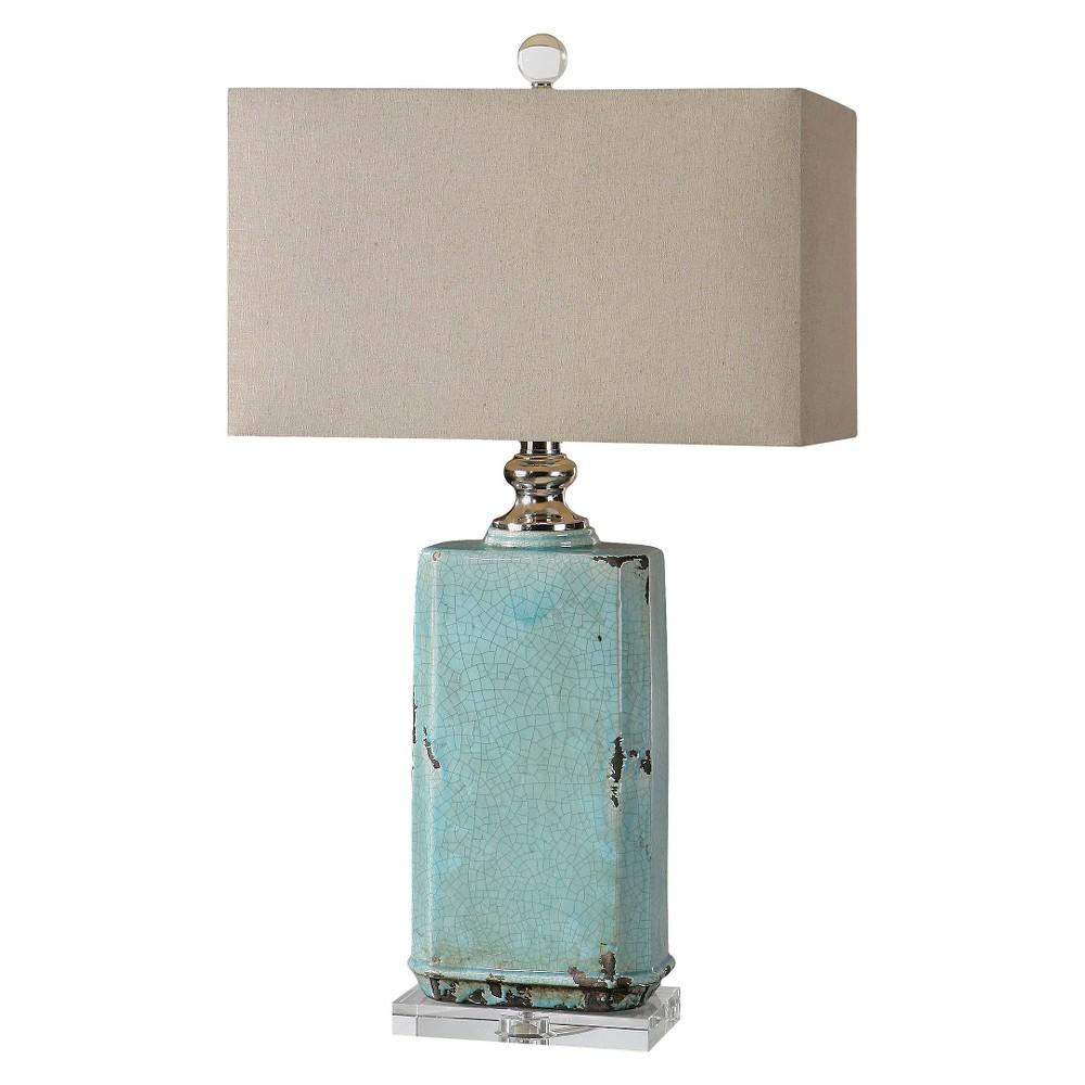 Uttermost Adalbern Crackle Lamp (Lamp Only) - Blue