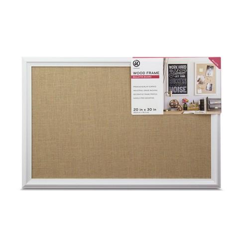 2183e6f9ccf Ubrands White Wood Frame Burlap Bulletin Board - 20