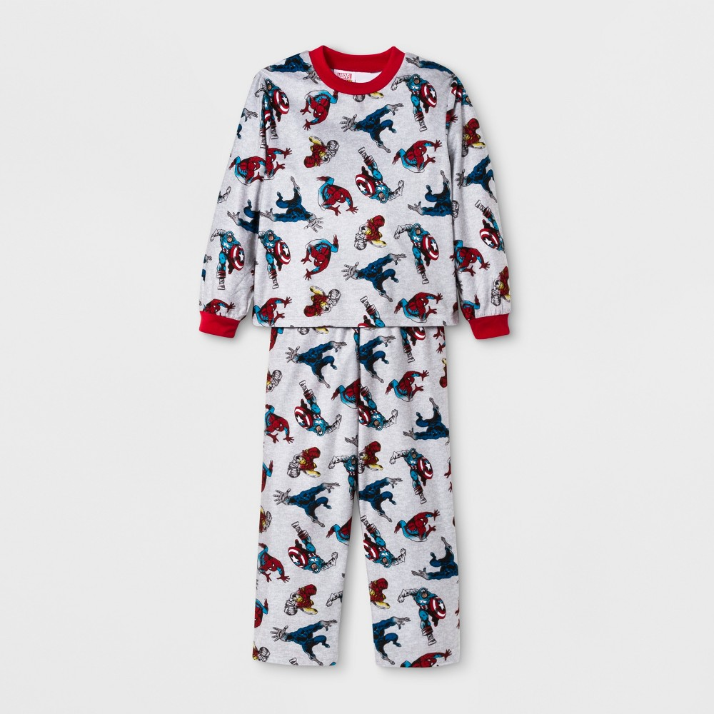 Boys' Marvel Door Buster 2pc Pajama Set - Gray 4