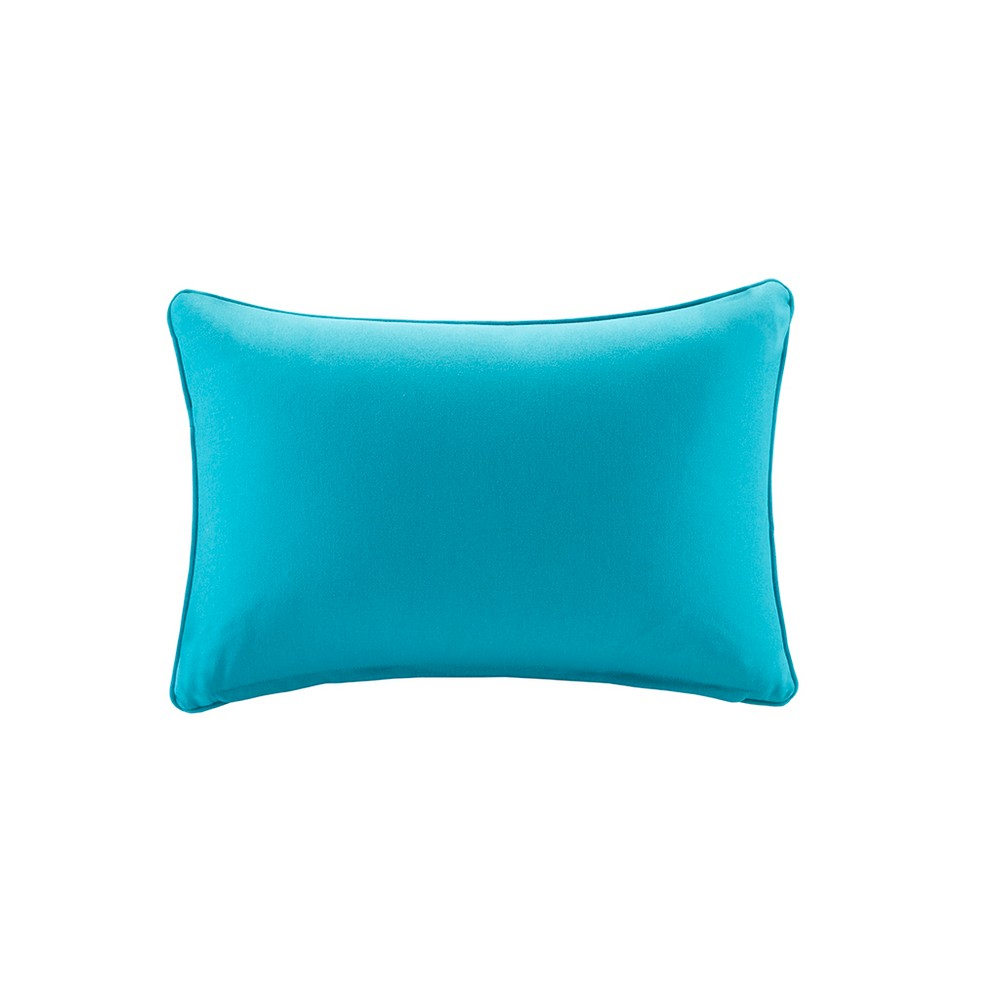 Grove Solid 3M Scotchgard Outdoor Pillow Aqua (Blue) - 14x20