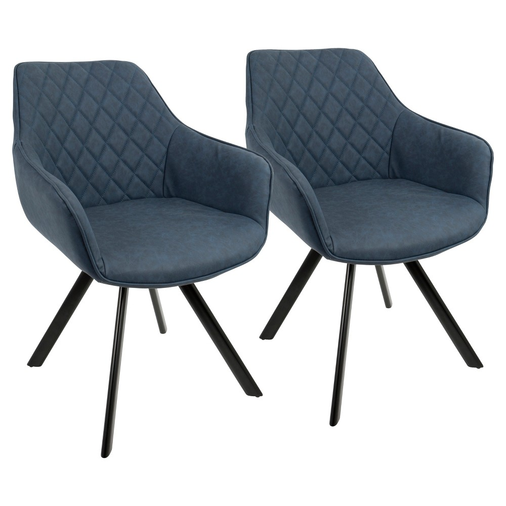 Outlaw Industrial Dining, Accent Chair - Blue (Set of 2) Lumisource