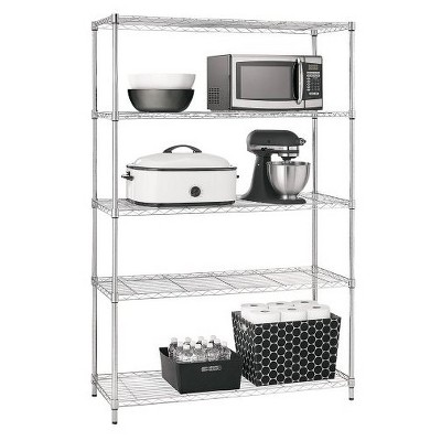 Adjustable 5-Tier Wire Wide Shelving Unit - Chrome - Room Essentials™