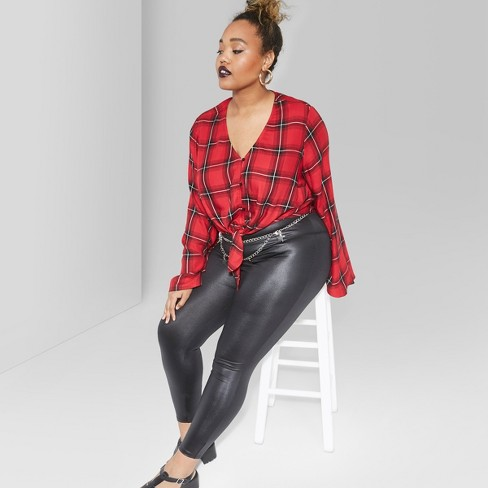 899f625a2b4 Women s Plus Size Faux Leather High-Rise Leggings - Wild Fable™   Target
