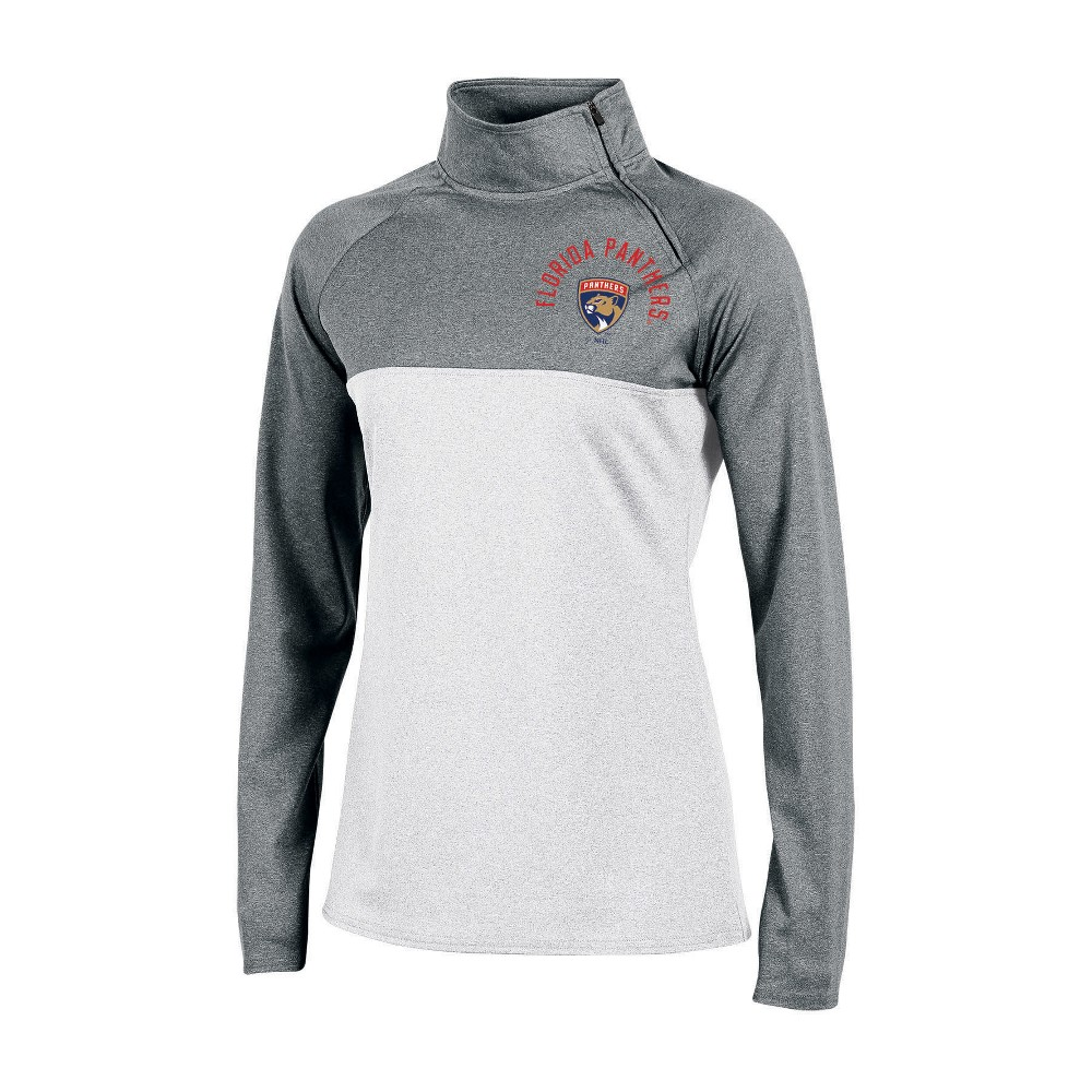 Florida Panthers Women's Quarter Zip Pullover - Gray L