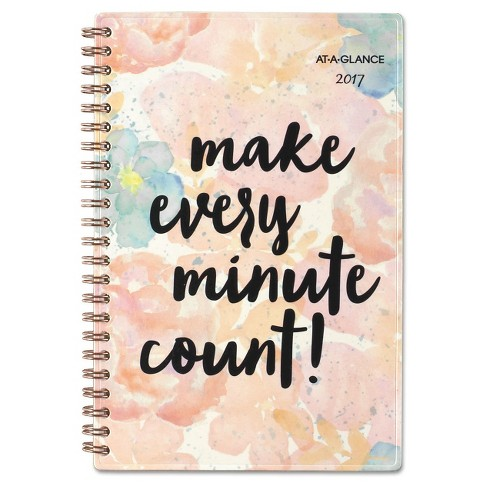 AT-A-GLANCE® B-Positive Desk Week/Month Planner Make Every Minute ct 4 7/8 x 8 2018 - image 1 of 2