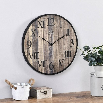 Barnside Wall Clock Rustic - FirsTime