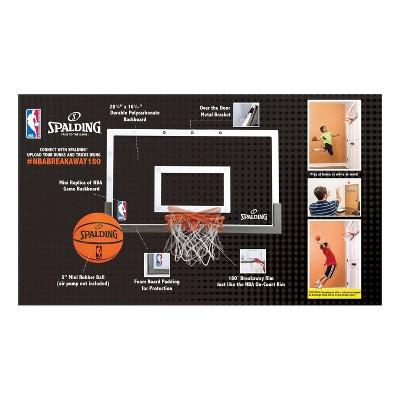 Spalding NBA Breakaway 180 Over The Door Basketball Hoop Set : Target