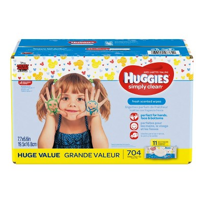 Huggies Wipes Simply Clean Baby Wipes Flip Top Refill - 704ct