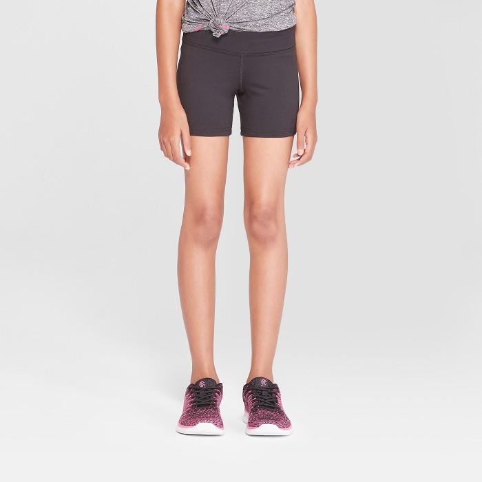 Girls' Performance Yoga Shorts - C9 Champion® - image 1 of 3