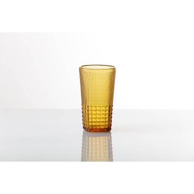 15oz 6pk Crystal Malcolm Ice Beverage Glasses Amber - Fortessa Tableware Solutions