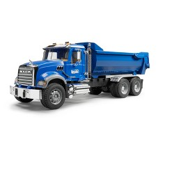 Bruder Toys MACK Granite Halfpipe Dump Truck - 1/16 Scale Realistic, Functional Toy Construction Vehicle