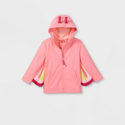 Toddler Girls' Butterfly Print Rain Jacket - Cat & Jack™ Pink