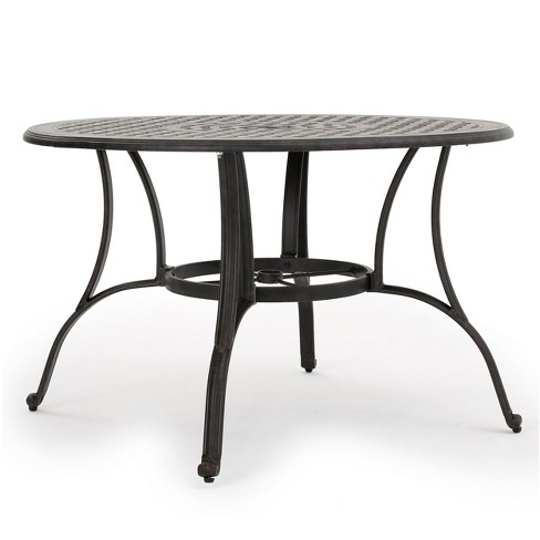 Alfresco Round Cast Aluminum Dining Table - Bronze Christopher Knight Home - image 1 of 4