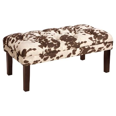 Bedroom Patterned Tufted Bench Skyline Furniture