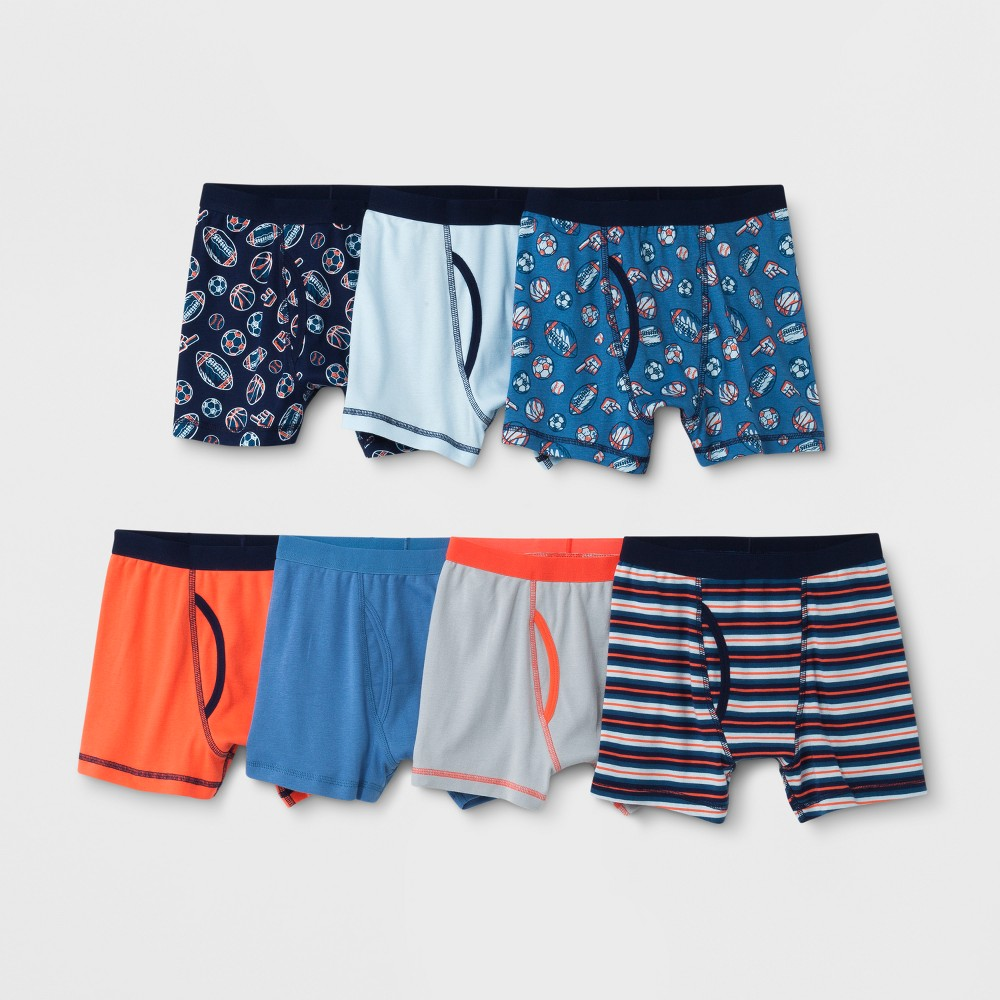 Image of Boys' 7pk Boxer Briefs - Cat & Jack Blue L, Boy's, Size: Large
