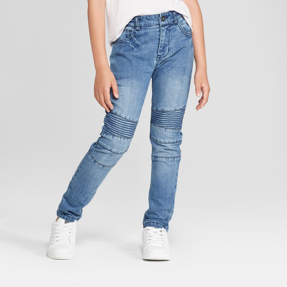 Boys' Moto Woven Jeans - art class Medium Blue 8