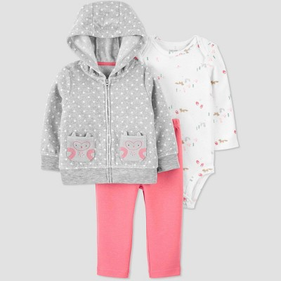Baby Girls' Dot Top & Bottom Set - Just One You® made by carter's Gray 12M