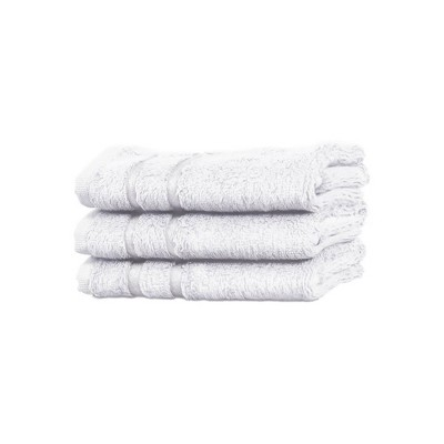 3pc Rayon from Bamboo Washcloth Set White - Cariloha