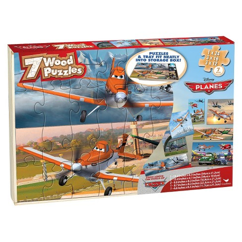 Planes 7PK Wood Puzzle - image 1 of 1