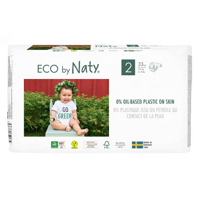 Eco By Naty 4pk Premium Disposable Diapers for Sensitive Skin - Size 2 (132ct)