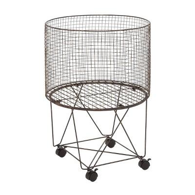 Farmhouse Metal Storage Cart Bronze - Olivia & May