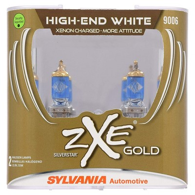 Sylvania 9006SZG.PB2 High Performance SilverStar zXe Gold 9006 Xenon Fueled Halogen Fog Headlight Bulbs with HID Attitude and Alloy Coating, 2 Pack
