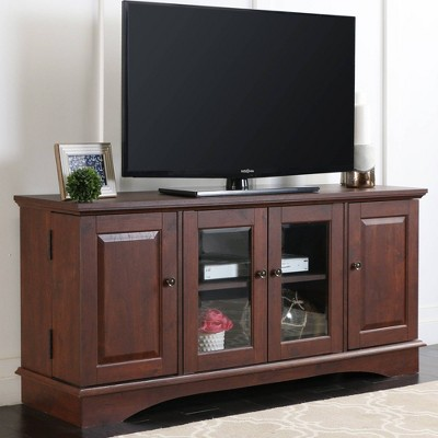 """Wood Storage Console TV Stand For TVs Up To 55"""" - Saracina Home : Target"""
