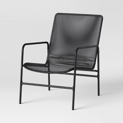 Mesh Accent Lounge Chair Black - Room Essentials™