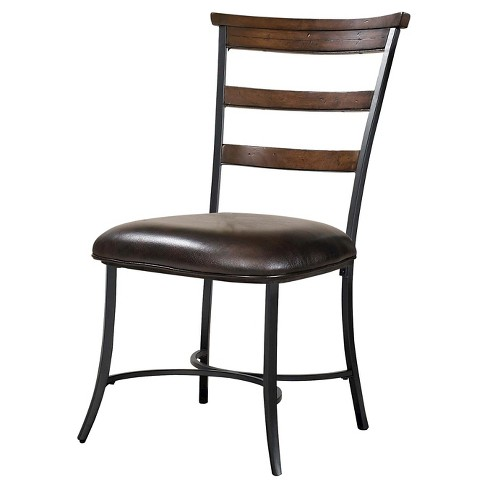 Cameron Wood Ladder Back Chair Metal/Chestnut (Set of 2) - Hillsdale Furniture - image 1 of 1