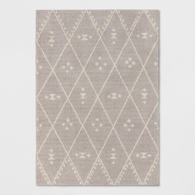 Gray Diamond Woven Area Rug 7'X10' - Project 62™