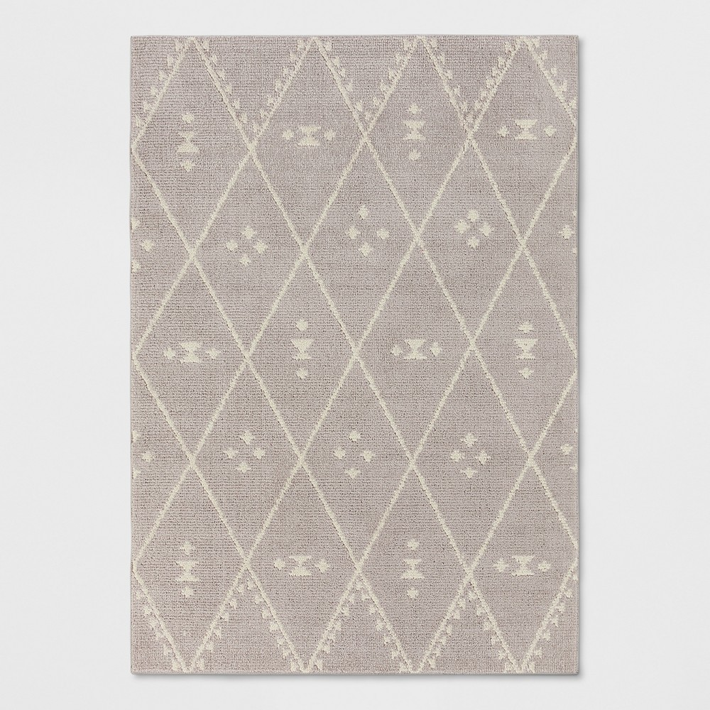 Gray Diamond Woven Area Rug 7'X10' - Project 62