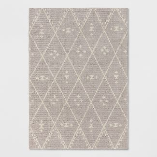 7'X10' Diamond Woven Area Rug Gray - Project 62™