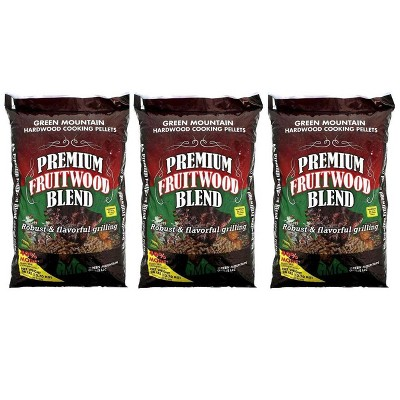 Green Mountain Grills Premium Fruitwood Pure Hardwood Grilling Pellets (3 Pack)