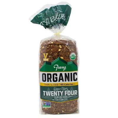 Franz Organic Rogue River 24 Grain Thin Sliced Bread - 20oz