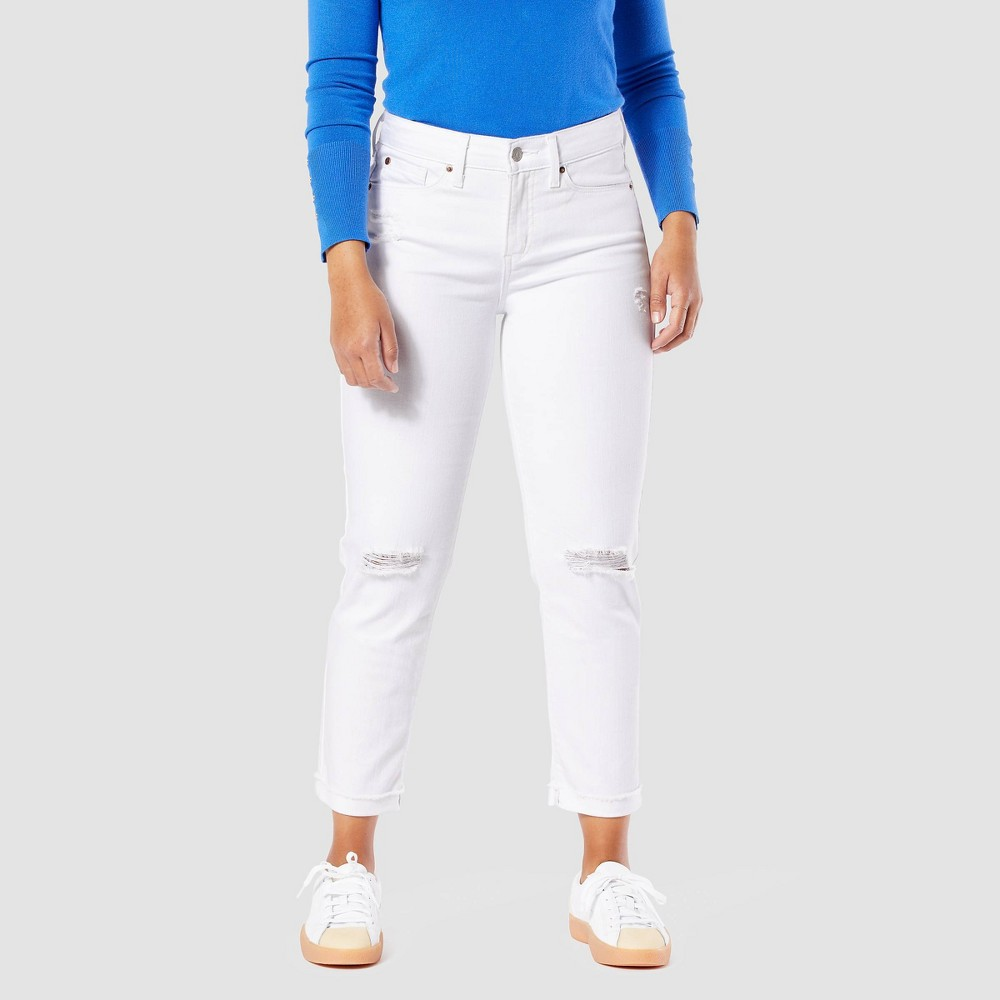 Denizen 174 From Levi 39 S 174 Women 39 S Mid Rise Slim Fit Cropped Boyfriend Jeans Bright White 16