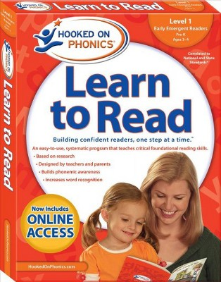 Hooked on Phonics Learn to Read Level 1 Pre-K, Ages 3-4 : Early Emergent Readers (Paperback)(Erica Perl
