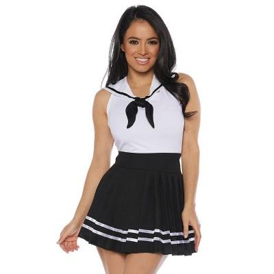 Underwraps Costumes Sailor Skirt Set Adult Costume (Black)