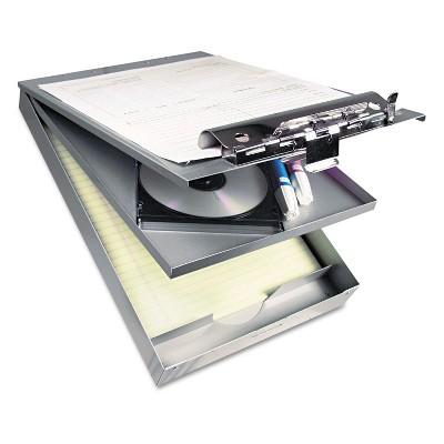 """Saunders Cruiser Mate Aluminum Storage Clipboard 1 1/2"""" Clip Cap 8 1/2 x 12 Silver 21017"""