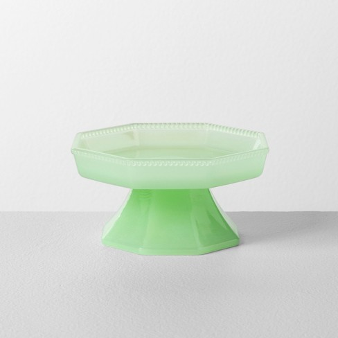 Milk Glass Mini Cupcake Stand Beaded Edge Green - Hearth & Hand™ with Magnolia - image 1 of 2