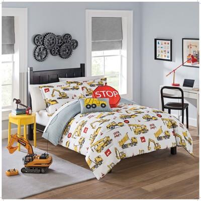 Under Construction Reversible Comforter Set - Waverly Kids